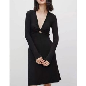 Aritzia Wilfred Free Paige dress black size XS